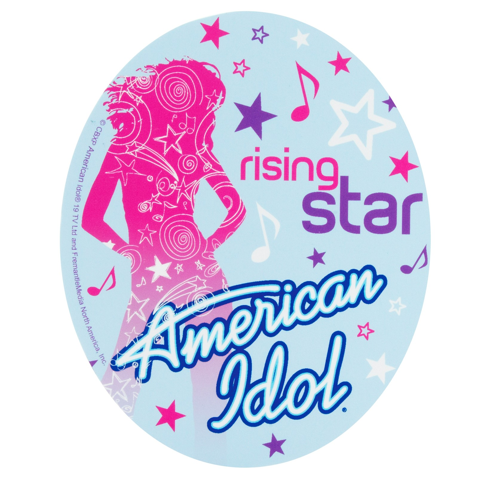 American Idol cake sticker